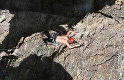 Sport-Klettern stockfotografie