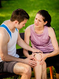 Sport - knee injured Royalty Free Stock Photography