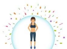 Sport kobieta odbija bakterie Chronienie system odpornościowy od złych bakterii Bariera przeciw wirusom ilustracji