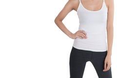 Sport kobieta odizolowywająca na białym tle Zdjęcie Stock