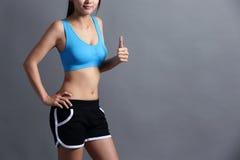 Sport kobieta z zdrowie postacią Zdjęcie Stock