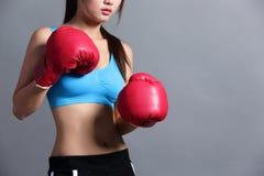 Sport kobieta z zdrowie postacią Fotografia Royalty Free