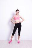 Sport kobieta z zdrowie postacią Zdjęcie Royalty Free