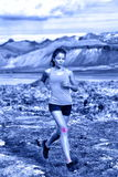 Sport kobiety portreta seans spaja urazy Fotografia Stock