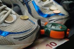 Sport kostet Geld stockfotos