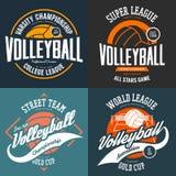 Sport koszulki druki dla siatkówka graczów royalty ilustracja