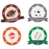 Sport labels Royalty Free Stock Photos