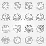 Sport labels Royalty Free Stock Photography
