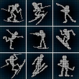 Sport LED Icons Royalty Free Stock Photos
