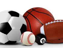 Sport and Leisure Balls Royalty Free Stock Image