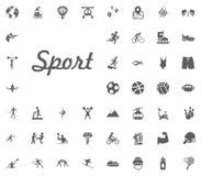 Sport letter icon. Sport illustration vector set icons. Set of 48 sport icons. Sport letter icon. Sport illustration vector set icons. Set of 48 sport icons Royalty Free Stock Image