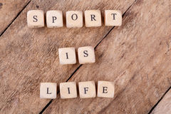 Sport is Life Royalty Free Stock Image