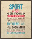 Sport is life. Vector illustration Royalty Free Stock Photography