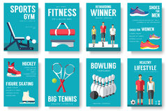 Sport lifestyle typography cover design concept. Sport lifestyle infographic. Sport lifestyle invite for Gym. Royalty Free Stock Image