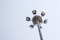 Sport light pole Royalty Free Stock Photo