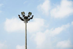 Sport light post Royalty Free Stock Photo