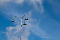 Sport light post on beautiful sky background Royalty Free Stock Photography