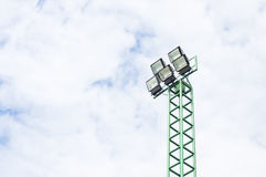 Sport light with   sky. Sport light with blue sky and white cloud Royalty Free Stock Image