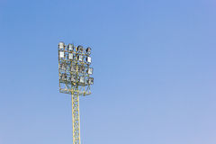 Sport lights with blue sky Stock Photos