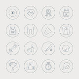 Sport line icon set Royalty Free Stock Images