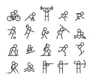 Sport line icons. Modern style Stock Photo