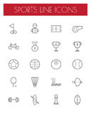 Sport line icons set. Stock Images