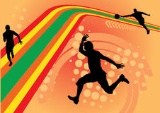 Sport lines design vector. With shilouettes of sportsmen Stock Photo