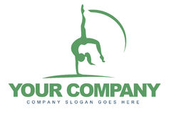 Sport Logo. Logo representing motion with a female working gymnastics Stock Photography