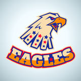 Sport logo with angry eagle Royalty Free Stock Photography