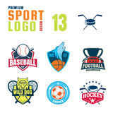 Sport logo design set Royalty Free Stock Images
