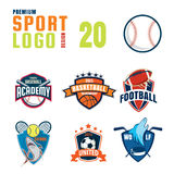 Sport logo design set Royalty Free Stock Photo