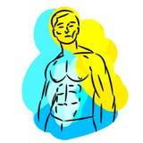 Sport logo design. Vector man silhouette illustration stock illustration