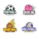 Sport logo set for four sport disciplines Royalty Free Stock Images