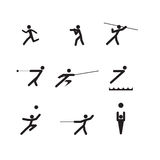 Sport logo silhouettes Stock Photo