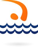 Sport  logo - swimming Stock Photos