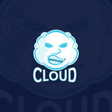 Sport Logo Vector Template de nuage Photographie stock libre de droits