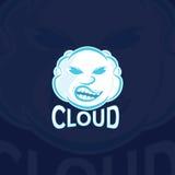 Sport Logo Vector Template de nuage illustration stock