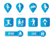 Sport and love Stock Photography