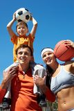 Sport lovers Stock Images