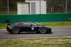 Sport mécanique Aston Martin Vantage V12 GT3 de Solaris à Monza Photos libres de droits