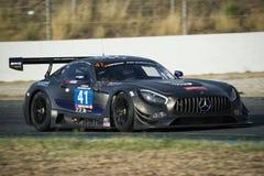 Sport mécanique de l'équipe HTP Mercedes AMG GT3 24 heures de Barcelone Photographie stock