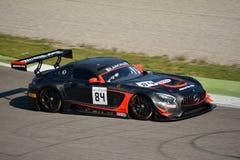 Sport mécanique Mercedes SLS AMG GT3 de l'équipe HTP à Monza Photos stock