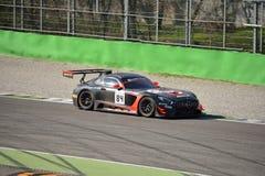 Sport mécanique Mercedes SLS AMG GT3 de l'équipe HTP à Monza Photographie stock libre de droits
