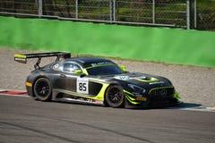 Sport mécanique Mercedes SLS AMG GT3 de l'équipe HTP à Monza Photos libres de droits