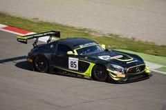 Sport mécanique Mercedes SLS AMG GT3 de l'équipe HTP à Monza Images libres de droits