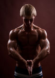 Sport male model Stock Images