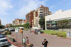Sport mall - Barcelona, Spain. Aug. 19 2014 Tourists enjoy at sport mall , Barcelona, Spain Stock Photography