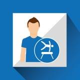 Sport man concept artistic gymnastic icon design Royalty Free Stock Photos
