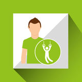Sport man concept gymnastic still rings icon design Royalty Free Stock Photo