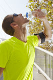 Sport man drinking water Stock Photos